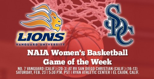 Vanguard and San Diego Christian Women Meet in NAIA Game of the Week