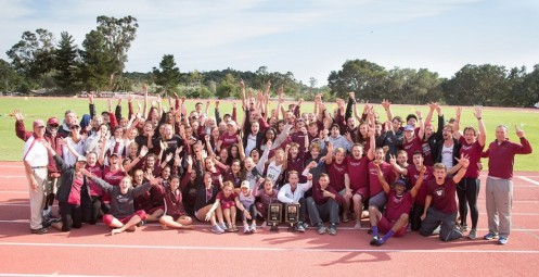 GSAC Champions - Westmont men's and women's teams (photo by Brad Elliott)