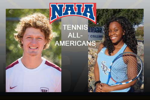 First Team All-Americans - Luke Whalen (Westmont) and Brittany Augustine (San Diego Christian)