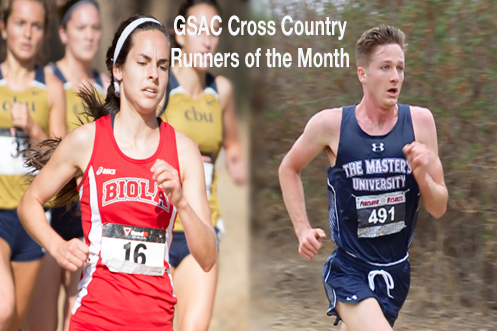 Lyndee Dawson (Left) and Michael Sciarra (Right) are the XC Runners of the Month.