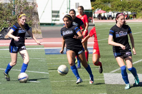 Leigha Williams, Angelica Flores, and Brooke Mays each netted two goals in the win at William Jessup