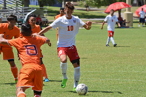 Anthony Archuleta scored the first two ACU goals of 2017 (Photo by Keith Moody)