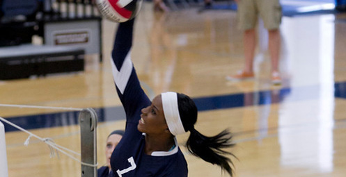 Markisha Richie delivered a career high 23 kills against Arizona Christian (Photo by Liza Rosales)