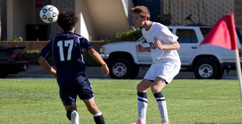 Zach Hoffer used his head to score the lone goal onTuesday (Photo by Liza Rosales)