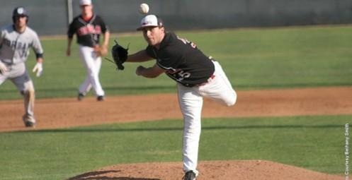 Tyler Bernheisel struck out seven and walked none in his 7.1 inning win on Monday.
