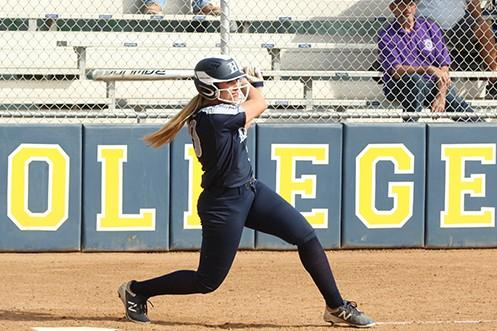 Jocelyn Young was deadly at the plate for HIU against the Redhawks