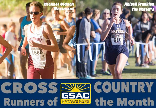 GSAC Cross Country Runners of the Month